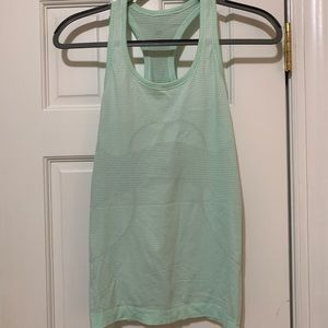 lulu lemon mint green tank. size 4